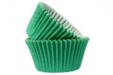 Green Crimped Cupcake Cases