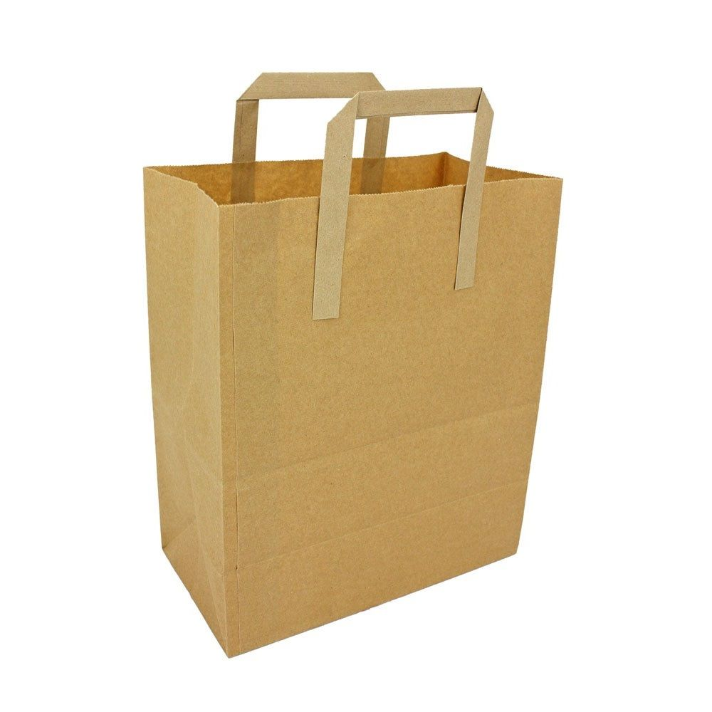 Medium SOS Brown Kraft Shopping Bags With Handles